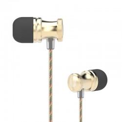 UIISII Ακουστικά Handsfree US80, Metal Hi-Fi, χρυσό