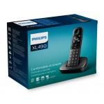 PHILIPS ασύρματο τηλέφωνο XL4901DS/34, με ελληνικό μενού, μαύρο