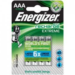 ENERGIZER AAA-HR03/800mAh/4TEM EXTREME RECHARGEABLE   F016482