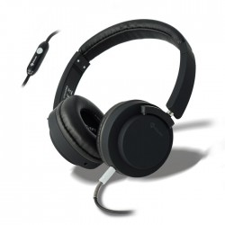 MELICONI MYSOUND SPEAK PRO BLACK ON-EAR STEREO HEADPHONE (WITH MICROPHONE)