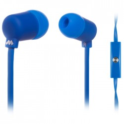 MELICONI MYSOUND SPEAK FLUO BLUE IN-EAR STEREO HEADSET (WITH MICROPHONE)