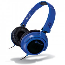 MELICONI MYSOUND SPEAK SMART FLUO BLUE-BLACK ON-EAR STEREO HEADSET (WITH MICROPH