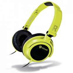 MELICONI MYSOUND SPEAK SMART FLUO YELLOW-BLACK ON-EAR STEREO HEADSET (WITH MICRO