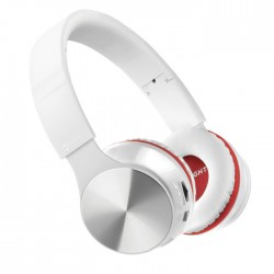 MELICONI 497459 MYSOUND SPEAK AIR WHITE/RED BT ON-EAR STEREO HEADPHONE (WITH MIC