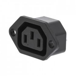 VLEP 11951B Power Plug Female Polyvinylchloride (PVC) Black
