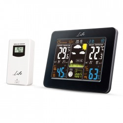 LIFE WES-300 Weather station with adaptor & wireless outdoor sensor,clock& alarm