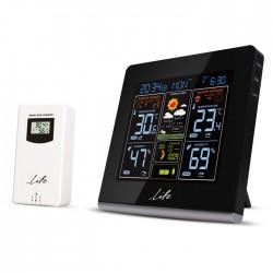 LIFE WES-301VA Weather station with adaptor & wireless outdoor sensor,clock& ala