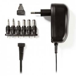 NEDIS ACPA001 Universal AC Power Adapter, 3/4.5/5/6/7.5/9/12 VDC, 1.0 A