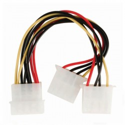 NEDIS CCGP74020VA015 Internal Power Cable, Molex Male - 2x Molex Female, 0.15m