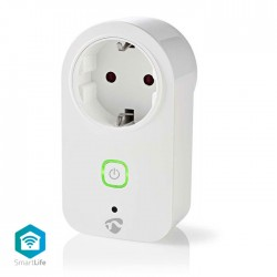 NEDIS WIFIP120FWT WiFi Smart Plug, Power Monitor, Schuko Type F, 16A
