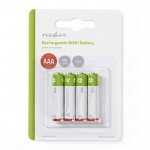 NEDIS BANM9HR034B Rechargeable Ni-MH Battery AAA, 1.2V, 950 mAh, 4 pieces, Blist