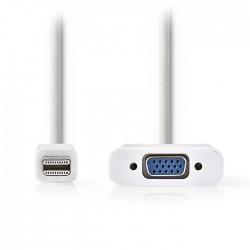NEDIS CCGP37850WT02 Mini DisplayPort - VGA Cable, Mini DisplayPort Male - VGA Fe