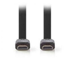 NEDIS CVGP34100BK20 Flat High Speed HDMI Cable with Ethernet, 2m, Black