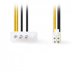 NEDIS CCGP74340VA015 Internal Power Cable, P4 Male - Molex Male, 0.15m