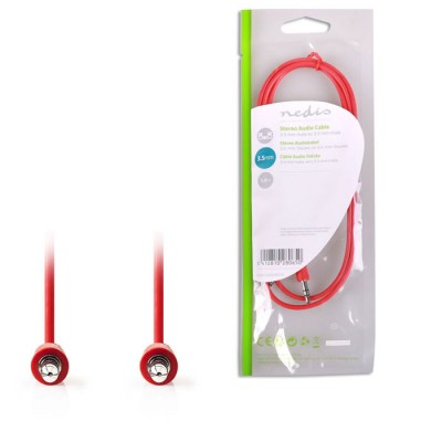 NEDIS CAGP22005RD10 Stereo Audio Cable, 3.5 mm Male - 3.5 mm Male, 1m, Red