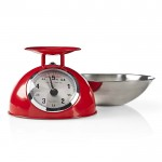 NEDIS KASC110RD Retro Kitchen Scales, Analogue, Metal, Red