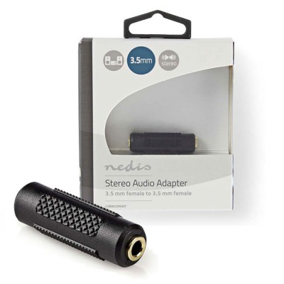 NEDIS CABW22950AT Stereo Audio Adapter, 3.5 mm Female - 3.5 mm Female