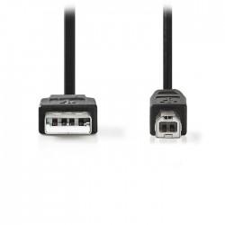 NEDIS CCGP60100BK20 USB 2.0 Cable A Male-B Male,2.0 m Black