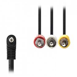 NEDIS CVGP22400BK20 3.5mm AV Cable 3.5mm AV Male-3xRCA Male 2.0m Black
