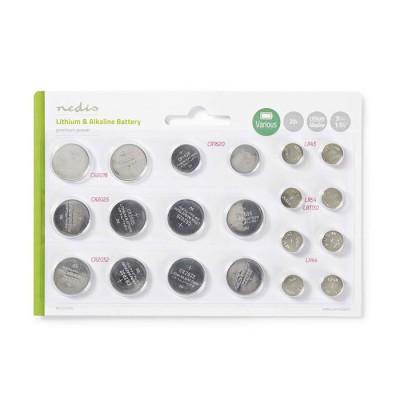 NEDIS BALAK20BL Lithium Button Cell Battery Multi Pack,CR2025/CR 2016/CR1620/LR4