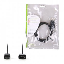 NEDIS CCGP37100BK10 DisplayPort-HDMI Cable DisplayPort Male-HDMI Connector,1.0 m
