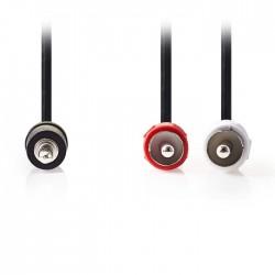 NEDIS CAGP22200BK15 Stereo Audio Cable 3.5 mm Male-2x RCA Male 1.5 m Black