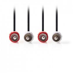 NEDIS CAGP24200BK100 Stereo Audio Cable 2x RCA Male-2x RCA Male 10m Black
