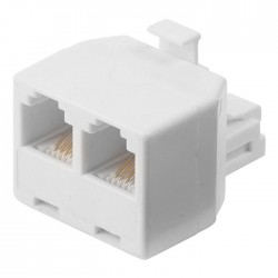 NEDIS TCGP90995WT Telecom Splitter RJ11 Male-2x RJ11 Female White