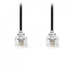 NEDIS TCGP90200BK100 Telecom Cable RJ11 Male - RJ11 Male 10.0 m Black