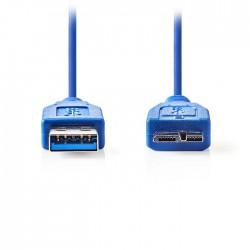 NEDIS CCGP61500BU05 USB 3.0 Cable A Male - Micro B Male 0.5m Blue