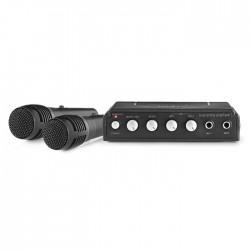 NEDIS MIXK050BK Karaoke Mixer Set 2 Microphones Included Black
