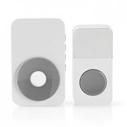 NEDIS DOORB122CWT Wireless Doorbell Set Mains Powered 36 Melodies