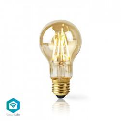 NEDIS WIFILF10GDA60 WiFi Smart LED Filament Bulb E27 A60 5W 500 lm