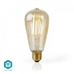 NEDIS WIFILF10GDST64 WiFi Smart LED Filament Bulb E27 ST64 5W 500 lm