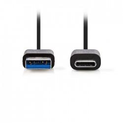 NEDIS CCGP61600BK10 USB 3.0 Cable Type-C Male - A Male 1.0m Black