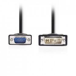 NEDIS CCGP32100BK20 DVI Cable DVI-A 12+5-Pin Male - VGA Male 2.0m Black