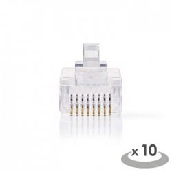 NEDIS CCGP89300TP Network Connector RJ45 Male-For Solid Cat 5 UTP Cables 10 piec
