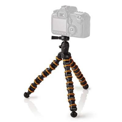 NEDIS GPOD3210BK Mini Tripod Max 2.5 kg 30.0 cm Flexible Black/Orange