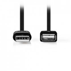NEDIS CCGT60010BK10 USB 2.0 Cable A Male - USB A Female 1.0m Black