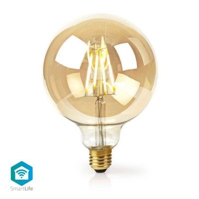 NEDIS WIFILF10GDG125 WiFi Smart LED Filament Bulb E27 125 mm 5W 500 lm