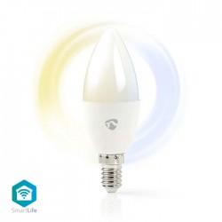 NEDIS WIFILW10WTE14 WiFi Smart LED Bulb Warm to Cool White E14