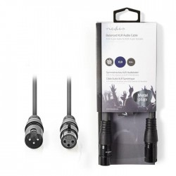 NEDIS COTH15010GY05 Balanced XLR Audio Cable  XLR 3-Pin Male - XLR 3-Pin Female
