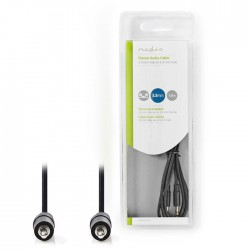NEDIS CAGB22000BK15 Stereo Audio Cable 3.5 mm Male - 3.5 mm Male 1.5 m Black