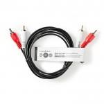 NEDIS CAGT24200BK15 Stereo Audio Cable 2x RCA Male - 2x RCA Male 1.5 m Black