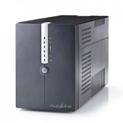 NEDIS UPSD2000VBK Uninterruptible Power Supply 2000 VA 1200 W 4 Sockets