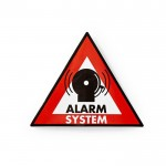 NEDIS STCKWA105 Warning Sticker Alarm System symbol Set of 5 pieces
