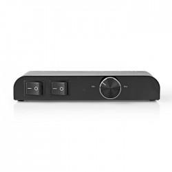 NEDIS ASWI2652BK Speaker Control Box 2-Way Banana Volume Control Black
