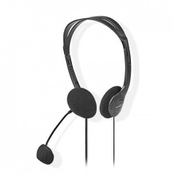 NEDIS CHST100BK PC Headset On-Ear 2x 3.5 mm Connectors 2.0 m Black