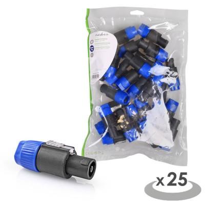 NEDIS CAVC16900BK Speaker Connector Speaker 4-pin Male 25 pieces Black