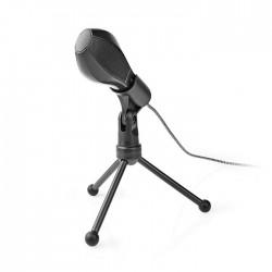 NEDIS MICTU100BK Wired Microphone Dual Condenser With Tripod USB